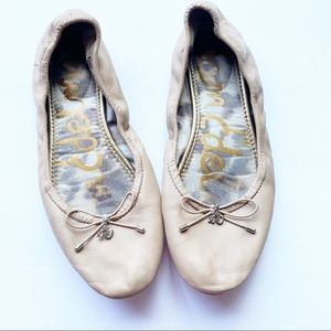 Sam Edelman Felicia Ballet Nude Leather Flats